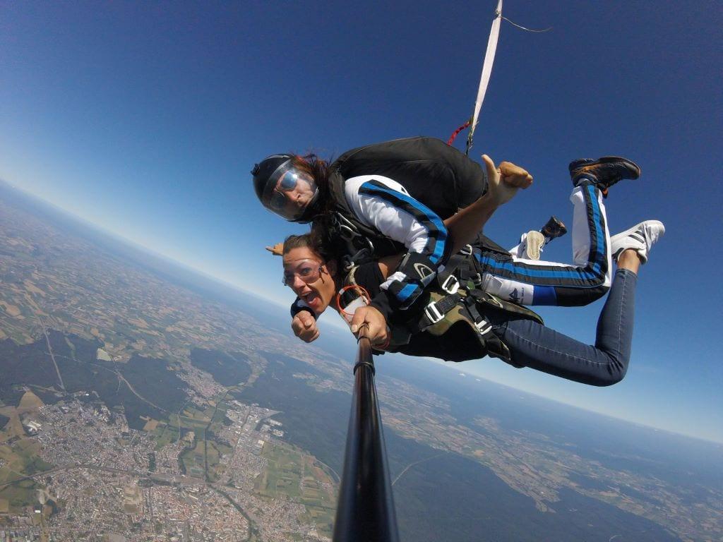 chute libre saut de tandem
