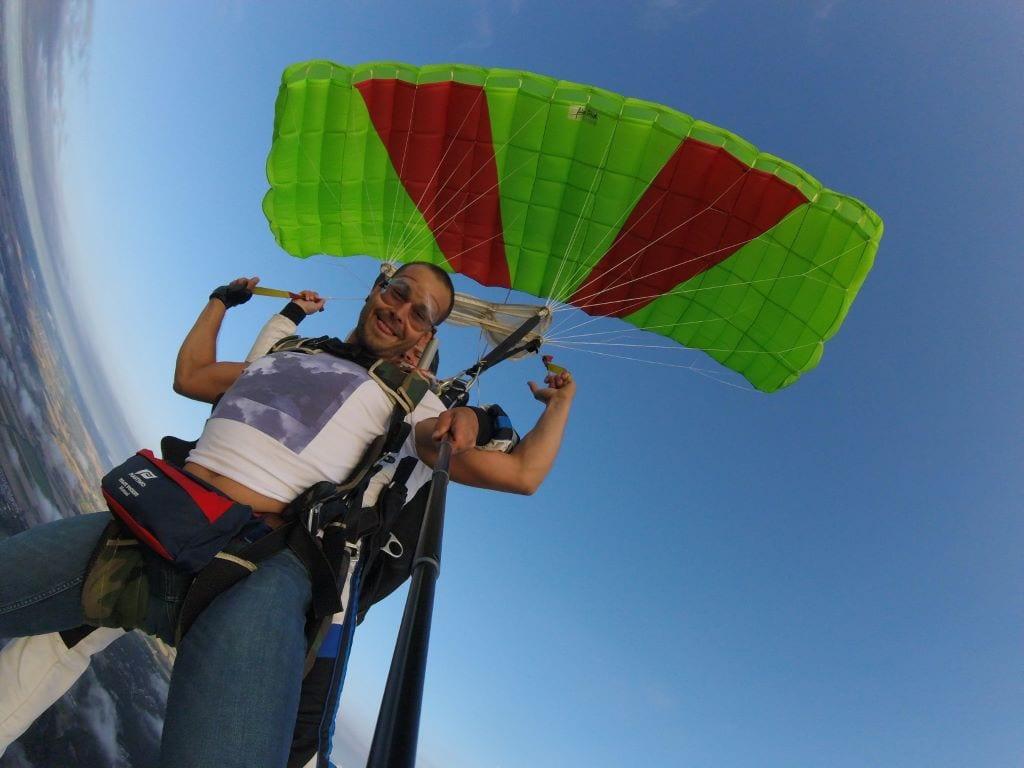 ouverture parachute tandem